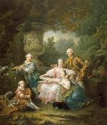 Francois-Hubert Drouais Le marquis de Sourches et sa famille oil painting reproduction